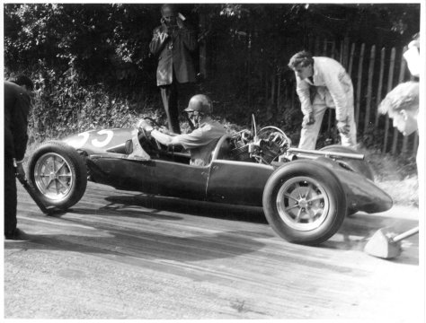 Mike Hatton, Shelsley Walsh, 12.6.60 or 11.6.61 photo by Photographic Craftsmen